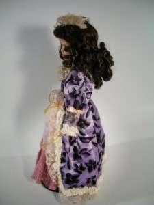 Unique Porcelain Doll Named Rose 1 5000 Black Hair 16