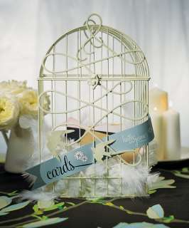 Personalized Love Birds Birdcage Wedding Card Holder $5off EA ADDT