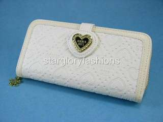 Elegant Cream/Ivory Bills/Credit Cards Purse Wallet Heart ASW 086132