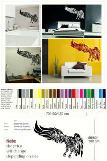 Tribal Eagle bird wall sticker art transfer decal graphic mural and