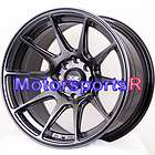 XXR 527 Chromium Black Concave Wheels Rims 4x114.3 Stance 4x100 4x4.5