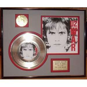 U2 GOLD RECORD LIMITED EDITION DISPLAY