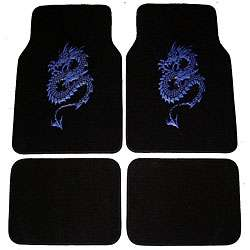 Blue Dragon Front and Rear Carpet Car Floor Mats