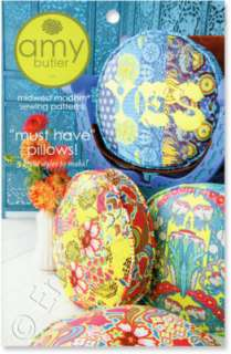 Amy Butler Must Have Pillows Sewing Pattern 3 Style NEW