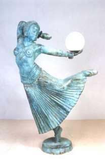 Cast Bronze Lady Dancer Lamp MGSRB991849