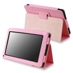 Pink Leather Case with Stand for  Kindle Fire