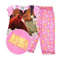 Animal Planet Girls 3 Piece Horse Pajama Set