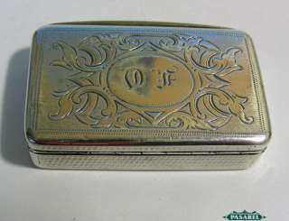 Fine Antique Austro Hungarian 800 Silver Tobacco Snuff Box Ca 1890