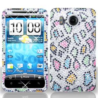 Rainbow Leopard Crystal Bling Case Phone Cover for HTC Inspire 4G