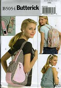 Backpack  Player Cover Sewing Pattern Butterick 5054