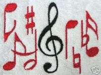Music towel, Musical notes towel, decorative towel