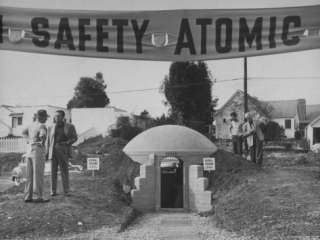 Model Atomic Bomb Shelter for Personal Use Premium Photographic