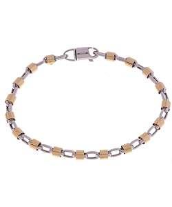 14k Two tone Gold Bullet Bracelet  Overstock