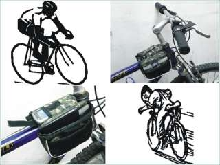 Cycling Bicycle Bike Frame Front Tube Army color Bag S4