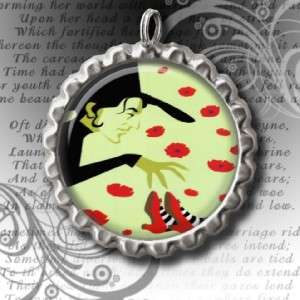 WIZARD OF OZ BOTTLE CAP NECKLACE With 24 IN. BALL CHAIN