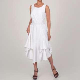 Robbie Bee Womens White Convertible Pickup Dress