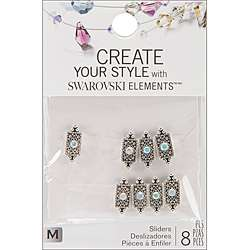 Jolees Jewels Pointed Rectangle Swarovski Elements Sliders (Pack of 8