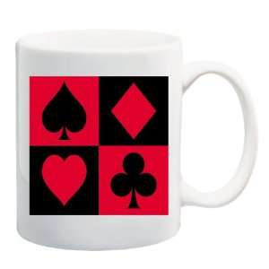 SUITS Mug Coffee Cup 11 oz ~ Club Spade Heart Diamond