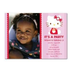 Birthday Party Invitations   Hello Kitty Candy Bow By