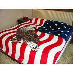 Patriotic American Eagle Flag Design Blanket