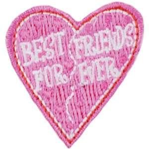 Iron On Appliques Best Friends Heart 1/Pkg