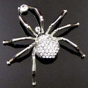 Item  1 pc Austrian rhinestone crystal Spider Brooch Pin