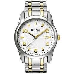 Bulova Mens Two tone Stainless Steel Watch