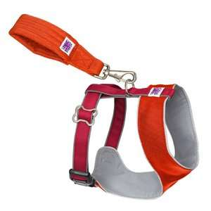Doggles Mutt Gear Dog Comfort Harness in Orange and Red