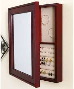 Wall mounted Mirrored Cherry Jewelry Box