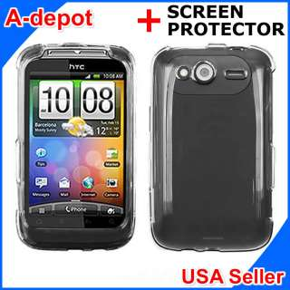 HTC Wildfire S G13 T Mobile Crystal Clear Hard Case Cover +Screen