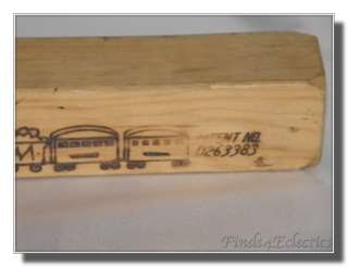 Vintage Toy Train Wood Wooden Whistle