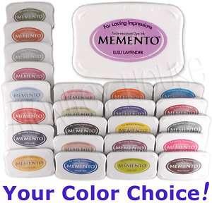 MEMENTO Dye INKPAD stamp pad fade/water resistant permanent ink