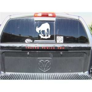 DEER HUNTING WINDOW STICKER DECAL 10X10