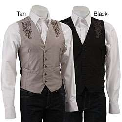 English Laundry Mens London Embroidered Vest