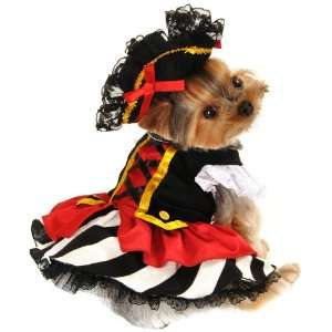 Anit Accessories Large Pirate Girl Dog Costume, 20 Inch: Pet Supplies