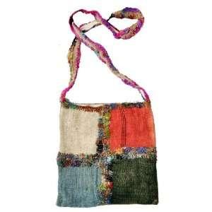 Tibetan Handmade Hemp and Recycled Silk Red and Black