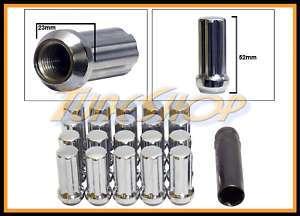 20 EXTENDED XL DUPLEX SPLINE WHEEL LOCK LUG NUTS 14X1.5 M14 1.5 ACORN