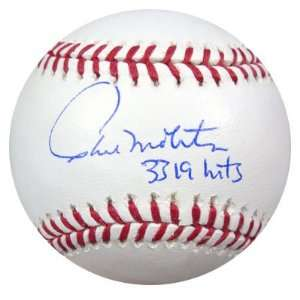 Paul Molitor Autographed MLB Baseball 3319 Hits PSA/DNA