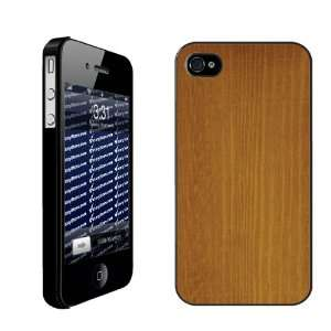 Wood Grain Design Maple Wood   iPhone Hard Case   BLACK