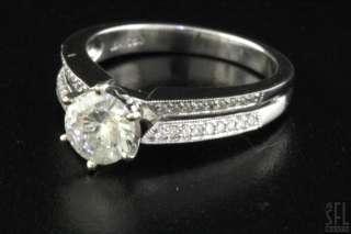 EGL HEAVY 18K WHITE GOLD 1.22CT DIAMOND WEDDING ENGAGEMENT RING $6400