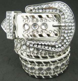 Western Cowgirl Rhinestone Studed Metal Belts , 50118WH
