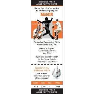 San Francisco Giants Colored Ticket Invitation Sports