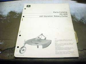 JOHN DEERE 227 GYRAMOR ROTARY CUTTER PARTS MANUAL BRUSH