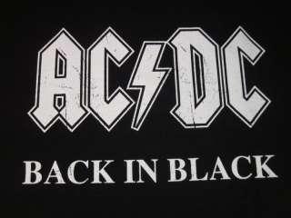 AC/DC Back In Black T shirt Classic Rock Tee NEW Sz2XL
