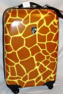 Giraffe Carry On Rolling Luggage 4 Wheels 360 Spinner Suitcase