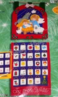 Bucilla NATIVITY Felt Christmas Advent Calendar Kit