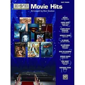 Movie Hits Easy Piano Solos, Coates, Dan Art, Music & Photography