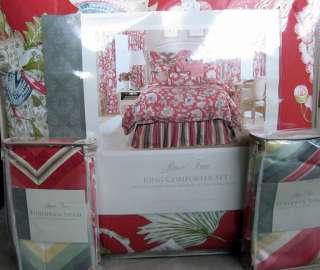 Rose Tree LIVINGSTON Floral King Comforter Set 6 Piece Bedskirt Shams