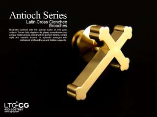 Christian jewelry Antioch series Latin cross brooch Lapel Pin