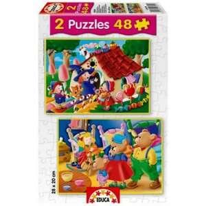 Educa Classic Tales Puzzles Hansel & Gretel & Goldilocks